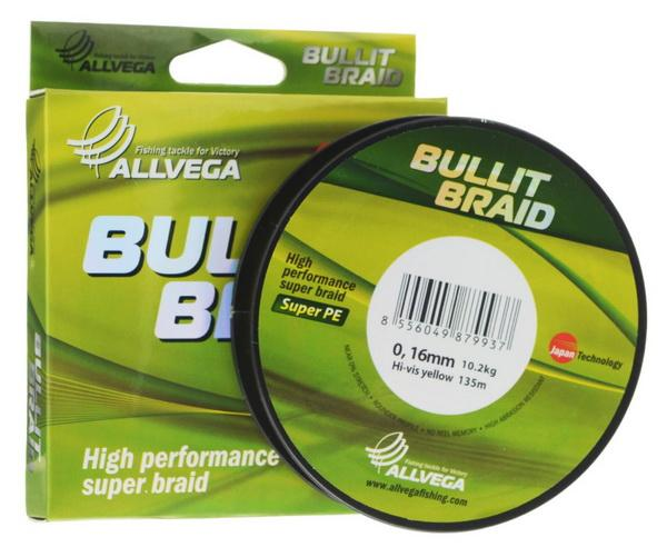 Отзыв на плетенку Allvega Bullit Braid Hi-Vis Yellow 135м 0,16мм